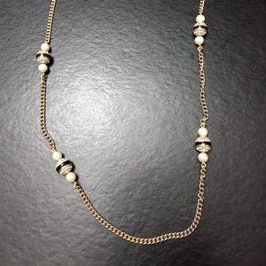 J Crew gold tone long necklace